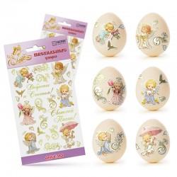Наклейки для яиц (Ангелы)