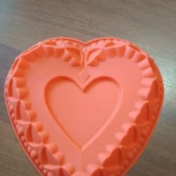 Форма силиконовая Сердце большое с сердцами