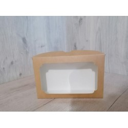 Коробка для еклерів 230*150*60 з вікном крафт