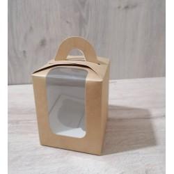 Коробка для кексов 1 шт крафт