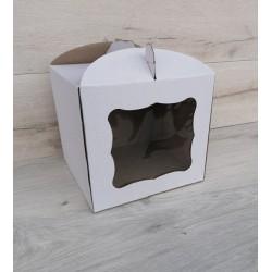 Коробка для торта с окном 230*230*210