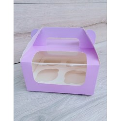 Коробка для кексов 4 шт Сирень