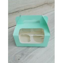 Коробка для кексов 4 шт Тиффани