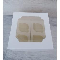 Коробка для кексов 4 шт