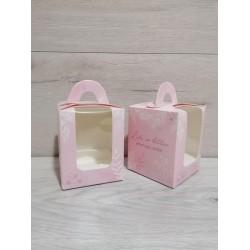 Коробка для кексів 1 од рожева