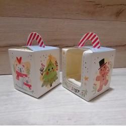 Коробка для  1 кекса Ялинка