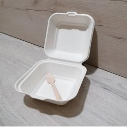 Коробка з цукрової тростини для Бенто торта з ложкою (набір 5шт)