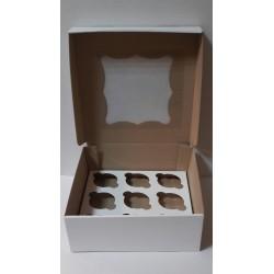Коробка для кексів + вікно на 9 од  260х260х90