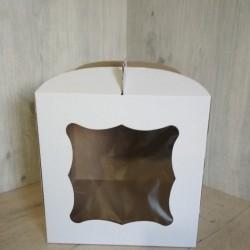 Коробка для торта с окном 300х300х300