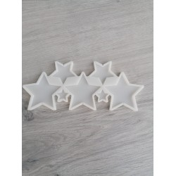 Молд силиконовый для леденцов Звезды