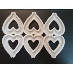 Молд силиконовый для леденцов Сердца №1