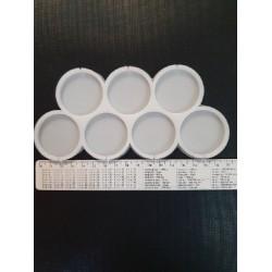 Молд силиконовый для леденцов Круги 7 шт