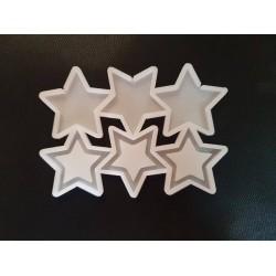 Молд силиконовый для леденцов Погремушка звёзда
