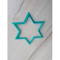 Вырубка пластик Звезда шестиконечная