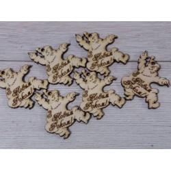 Деревянная бирка для декора