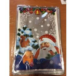 Пакет новогодний Дед Мороз 5 шт/уп