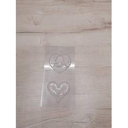 Пластиковая форма для шоколада Сердечки