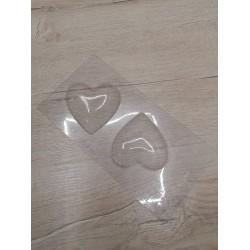 Пластиковая форма для шоколада Сердце пара