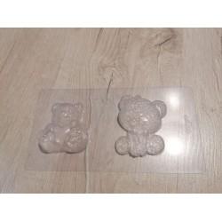 Пластиковая форма для шоколада Медвежата