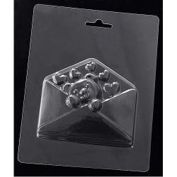 Пластикова форма для шоколада Конверт з медвежам
