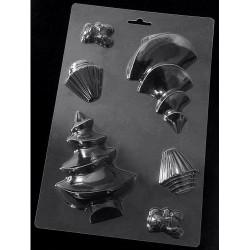 Пластиковая форма для шоколада Елочка 3D