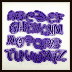 Вырубка алфавит, цифры и знаки