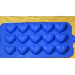 Форма силиконовая для льда Сердечки с каплей