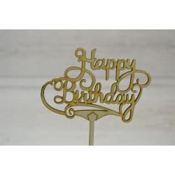 Топпер для торта Happy Birthday.