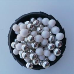 Цукрові кульки мікс білий з сріблом