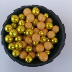 Цукрові кульки мікс золотий