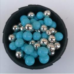 Цукрові кульки мікс голубий з сріблом