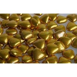 Шоколадні сердечка золоті