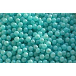 Сахарные шарики  голубой перламутр 5 мм