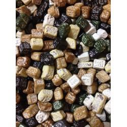 Шоколадные камешки темные