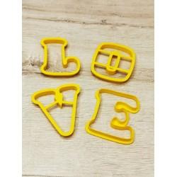 Вырубка пластик LOVE буквы