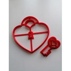 Вирубка пластик Серце з ключиком (Замок)