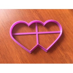 Вырубка пластик Два сердца